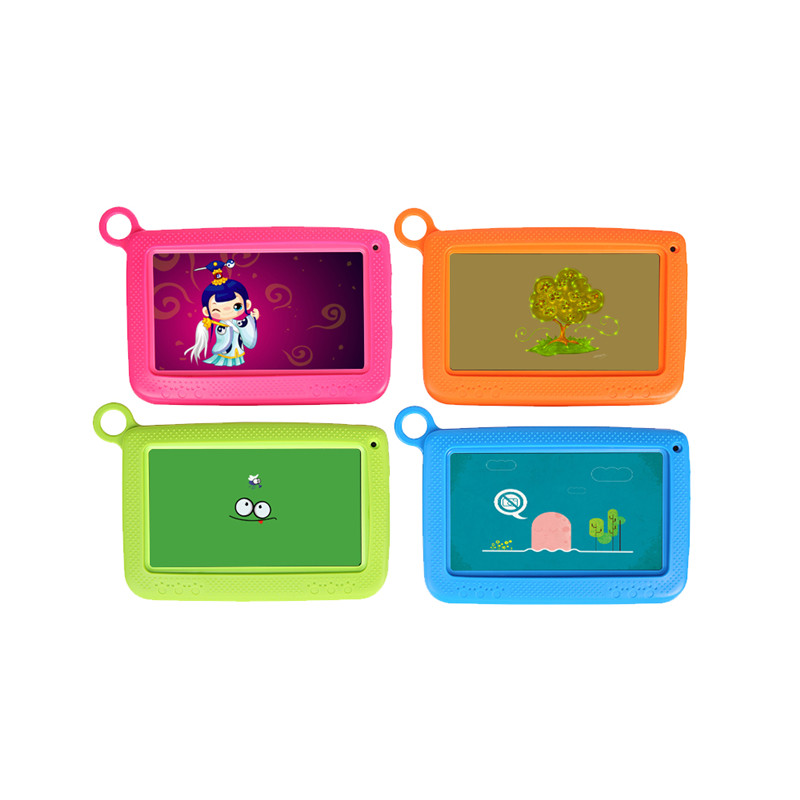 7 inch Babypad Quad Core IPS 1024*600 Dual Cam Tablet PC 8GB Wifi Bluetooth 7Kid Tablet pc Silicone Case Gift for Children