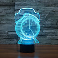 New Colorful USB 3D Christmas Bells Bedroom Decoration Desk Table Lamp Child Clock / Alarm Night Lights Christmas Gift 3D-TD128