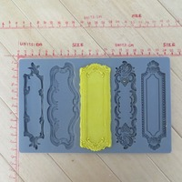 Silicone Mold Fondant Molds Vintage Art Decor Molds Object Labels Five Pattern Food Grade Mold For