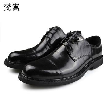 Męskie garnitur wysokiej jakości prawdziwej skóry sznurowane Business męskie buty męskie buty sukienka buty ślubne męskie cały mecz skóry wołowej tanie i dobre opinie Dla dorosłych Przypadkowi buty Skóra bydlęca Gumowe Świńskiej Podstawowe Oddychająca Wodoodporna Lace-up 20190522