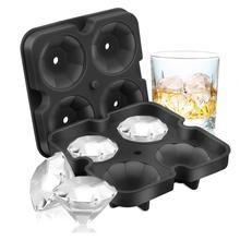 2 шт./компл. алмаз поднос кубика льда многоразовые ледяные кубики льда чайник силиконовая форма для льда «формы для крема формы для шоколада виски вечерние Барные инструменты