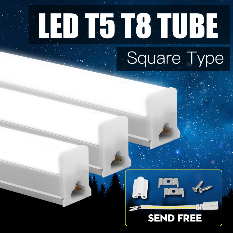 T5 T8 Led Tube Light 220V 1ft 2ft Super Bright Led Wall Lamp Integrated Home Lighting Fluorescent Tube Lighting