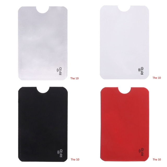 de6fcdd4f2c2 US $0.79 20% OFF|10 Pcs Credit Card Holder Protector Aluminum Foil Secure  Sleeve RFID Blocking ID Holder Foil Shield Passport Cover-in Card & ID ...