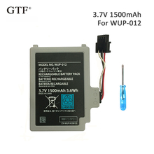 GTF 3.7V1500mAh Rechargeable Li-ion Battery Pack Replacement for Nintendo Wii U Controller WUP-012 Electric Power Tool 3 7v 1500mah 3600mah rechargeable battery for nintendo u wii wiiu gamepad controller joystick replacement repair part free tool
