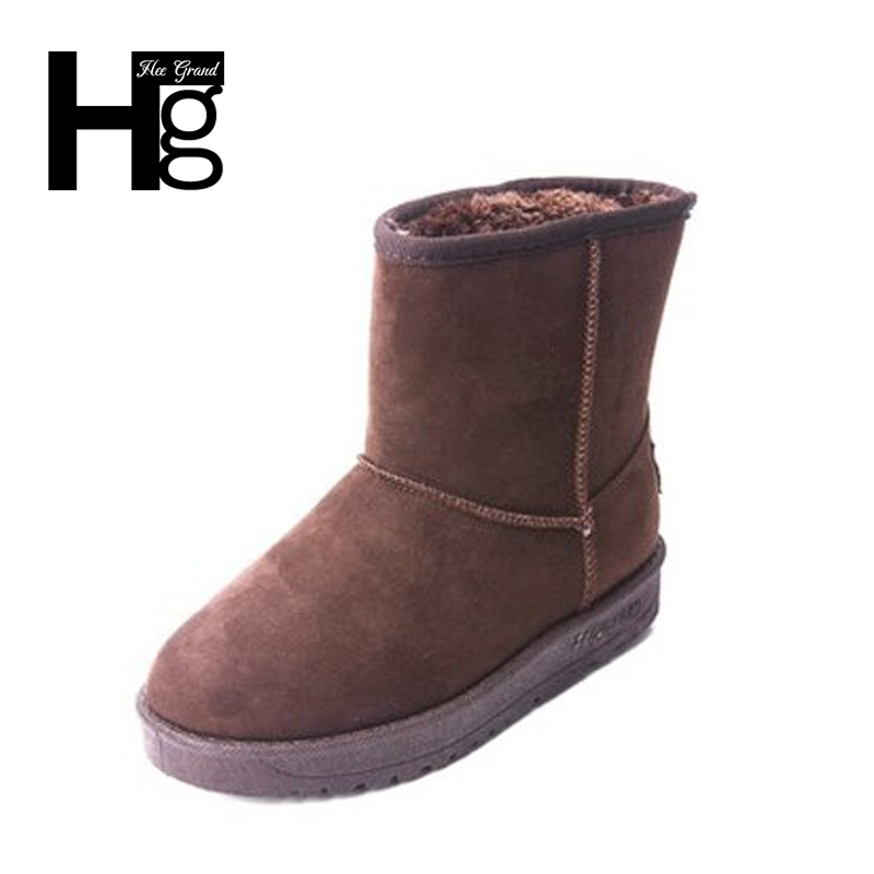 HEE GRAND Mid-Calf Women Winter Boots Warm Spring Black Shoes Women Student Quality Slip on Girl Basic Snow Boots 35-40 XWX6278 рюкзак case logic 17 3 prevailer black prev217blk mid