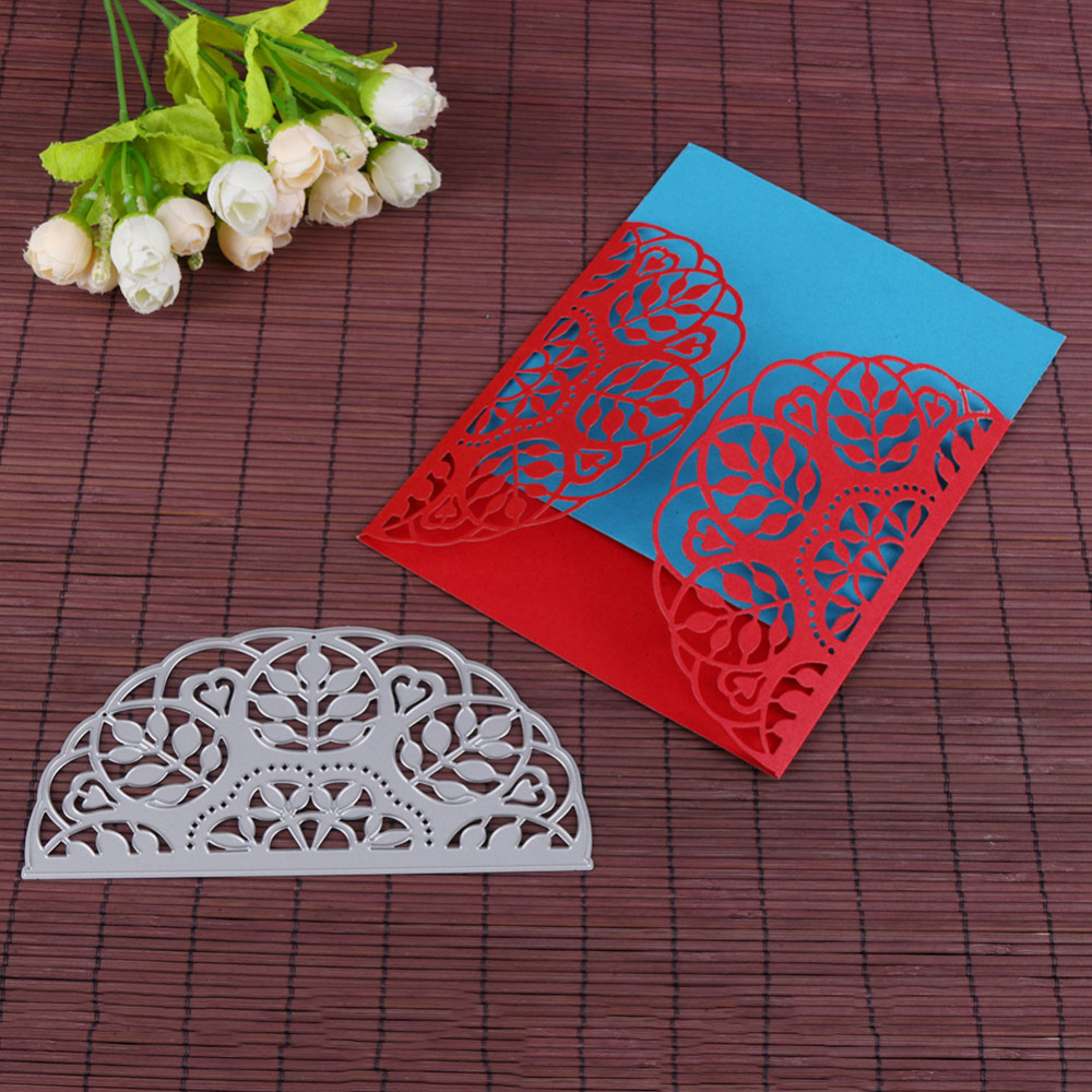 Us 3 97 11 Off Leaves Invitation Card Lace Border Metal Cutting Dies Stencil For Diy Scrapbooking Paper Card Making Decoration Supplies Crafts In