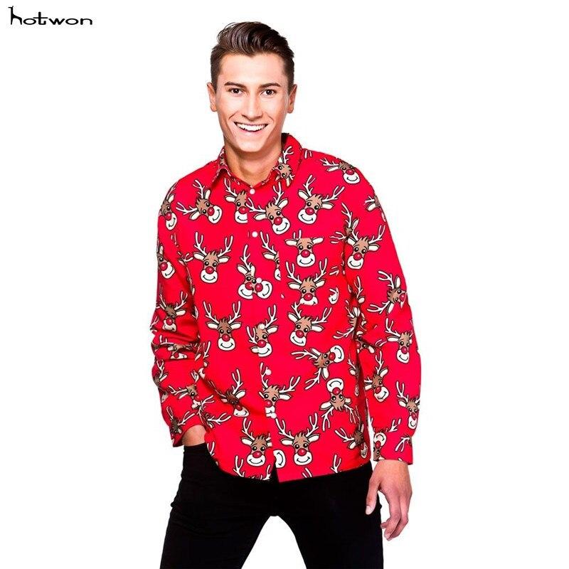 Erwachsene Männer Weihnachten Shirt Santa Schneemann Rentier Neuheit ...