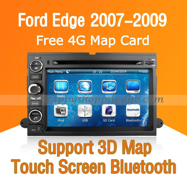 Car Dvd Player With Gps Navigation For Ford Edge Touch Screen Bluetooth Tv Usb Sd Ipod