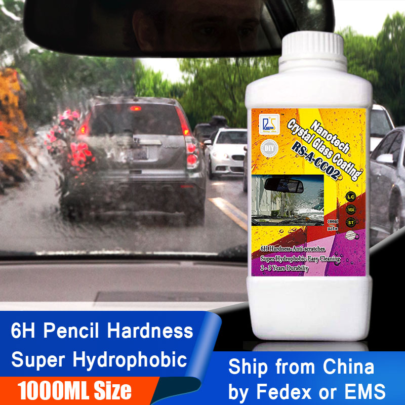 Rising Star RS-A-CC02 6H Nano hydrophobic Liquid Glass for Window Cleaning Rain Repel Nanotech Crystal Glass Coating 1000ml Kit
