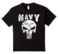 Gildan US NAVY T-SHIRT SEAL TEAM GIFT SHIRT ORIGINELE NAVY SKULL