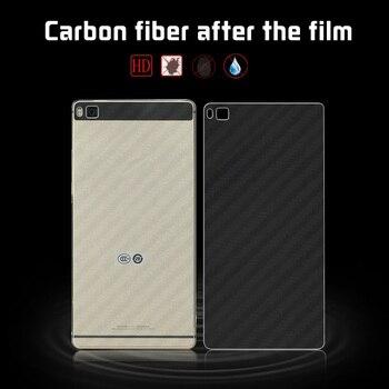 Película de fibra de carbono suave para Huawei Ascend P8 GRA-L09 GRA-UL00 Huawei Grace, funda trasera del teléfono, película + herramientas de limpieza
