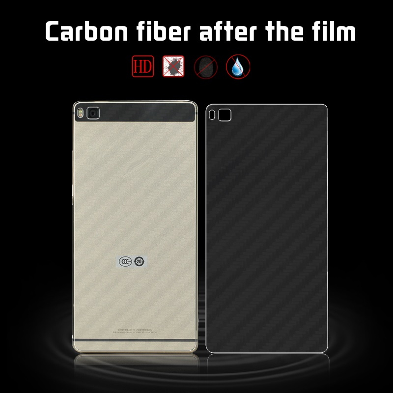 Soft Carbon Fiber Film For Huawei Ascend P8 GRA-L09 GRA-UL00 GRA-UL10 Huawei Grace Cell Phone Back Cover Film + Cleaning Tools