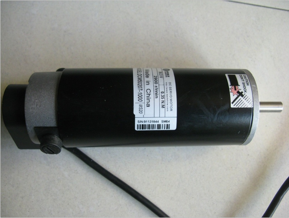 free shipping,Leadshine DCM50207-1000/DCM50207D-1000 brush DC servo motor (drive DCS810) free shipping 24v dc mig welding wire feeder motor single drive 1pcs