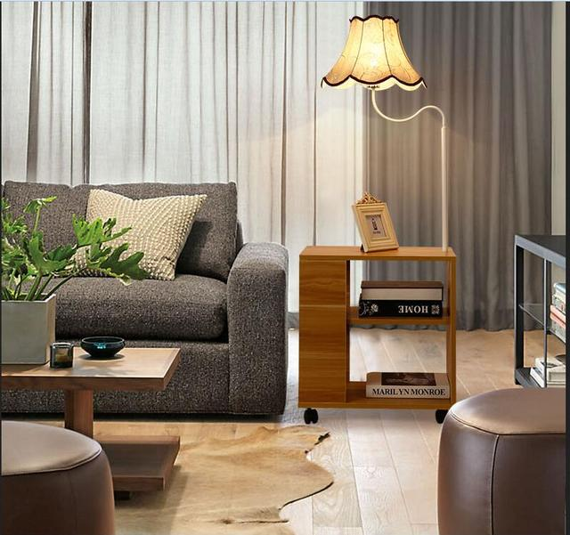 Fashion wood floor lamp shelves simple modern creative bedside fashion wood floor lamp shelves simple modern creative bedside living room bedroom study bedside floor light mozeypictures Image collections