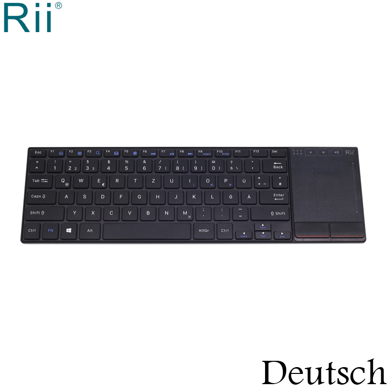 Rii K22 Deutsch German Keyboard Wireless 2.4GHz Multimedia Keyboard with TouchPad for Laptop, PC Computer, maytoni elegant 39 arm390 55 w