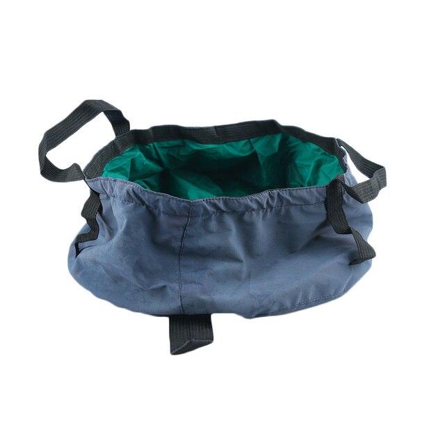 Color Random!!! 1PC Useful Collapsible Waterproof Cloth Camping Bucket Folding Buckets Washing Basin Portable Bucket Water Pot