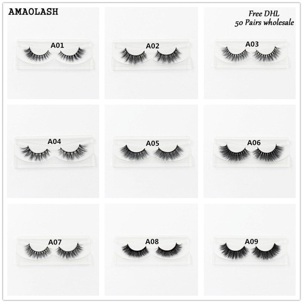 все цены на AMAOLASH 50pcs Mink Lashes Luxury Natural long Mink False Eyelashes Cross Thick Extension Eyelashes 33Styles Glitter Packaging онлайн