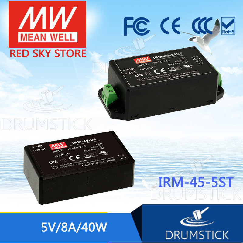 Advantages MEAN WELL IRM-45-5ST 5V 8A meanwell IRM-45 5V 40W Screw terminal style 1792951[pluggable terminal blocks mvstbw 2 5 22 st 5 0] mr li