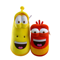 2Pcs Creative Anime Fun Insect Larva Plush Toys Stuffed Dolls larva Doll Cute Cartoon For Kids Birthday New Year's Gift oyuncak