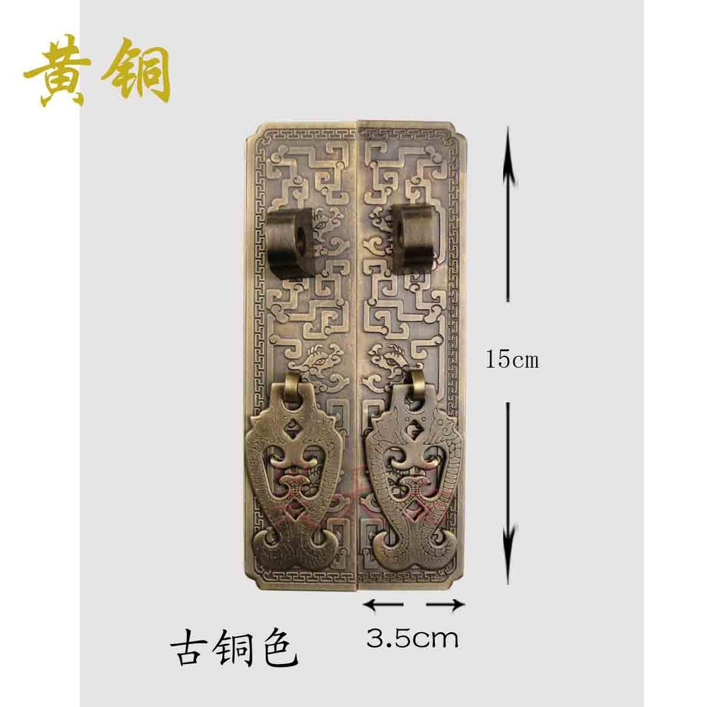 [Haotian vegetarian] antique furniture carved straight handle / carved flowers Long long handle HTC-215 S discoverybuy hd