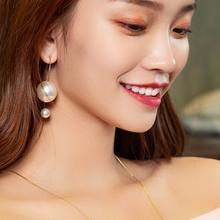 Big White Simulated Pearl Earrings For Women Party New Fashion Jewelry Statement Bijoux