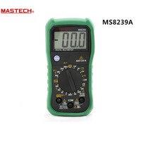 MASTECH MS8239A Mini Digital Multimeter DMM AC DC Voltmeter DC Ammeter Ohmmeter W Battery Current Resistance