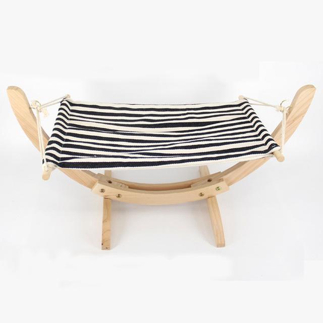 POPOKi Wood cat bed Hanging Soft Fleece or Cotton Cushion 4 patterns