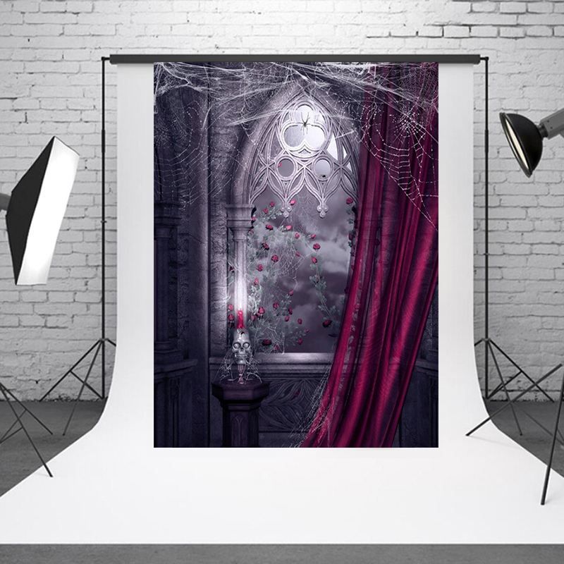 Halloween Decoration Background Photo,Background Backdrop for Studio Vedio Shooting Prop Cloth Photography Backdrop