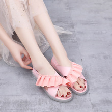 Fashion Women Sandals Beach Jelly Shoes Woman Flat Sandals New Soft Mixed Candy Colors Summer Casual Slip On Sandals 2018 new summer sandals women pu leather flat with mixed colors creepers soft skin sandals comfortable mather shoes