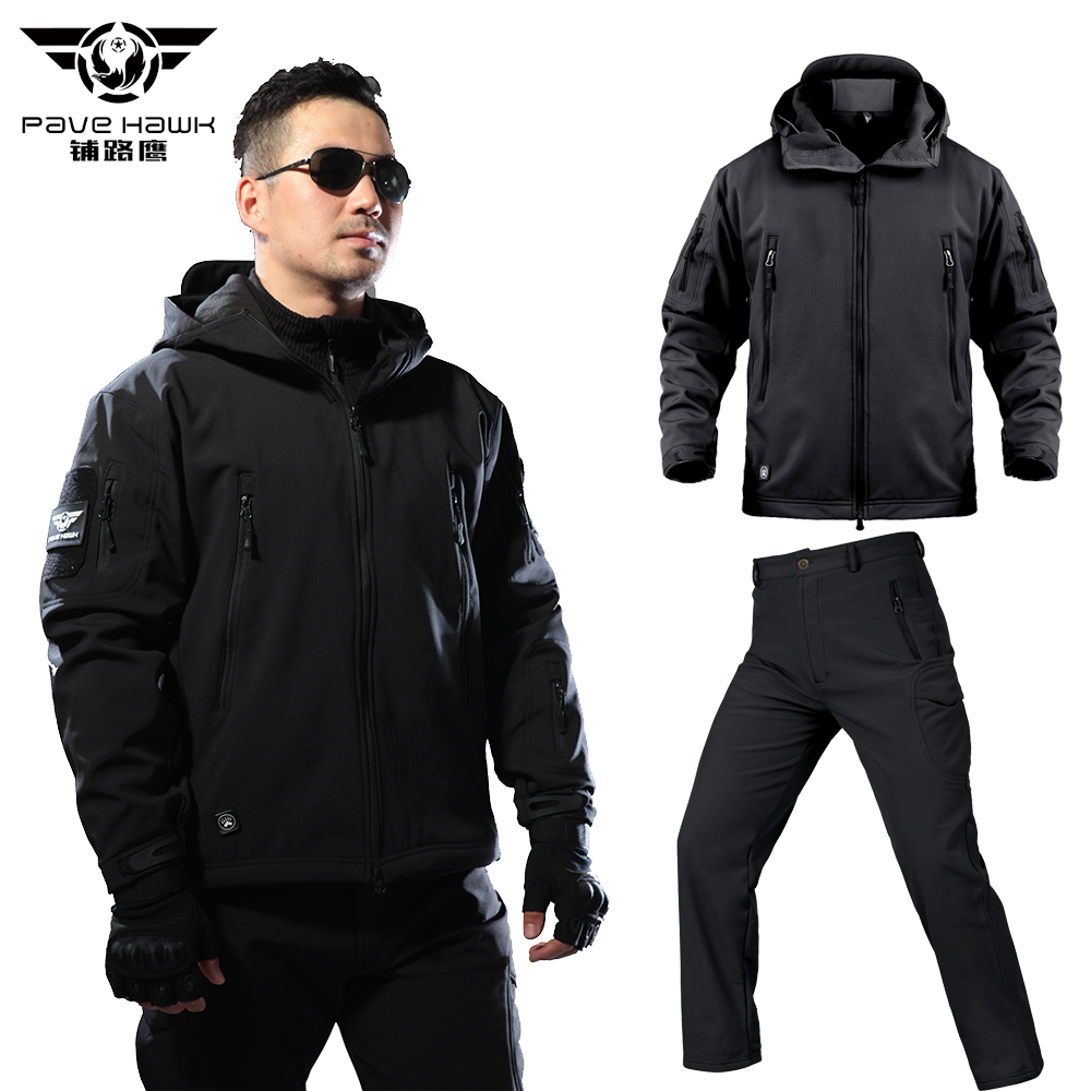 Winter Waterproof Men's Sets Warm Hoodies Military Jackets Men Army Pants Tactical Jacket Suit Coat Casual Clothes Women Pant