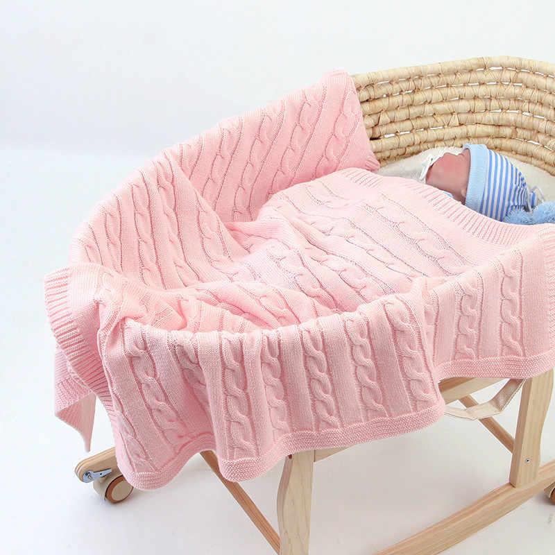 Mantas tejidas para bebés recién nacidos verano bebé envoltura niño niña manta suave cuna bebé cama cochecito recibir Manta