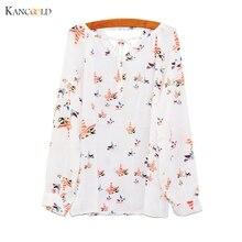 New T shirt Women Summer Casual Long SleeveT shirt Chemise Femme Tether Chiffon Floral T Shirt