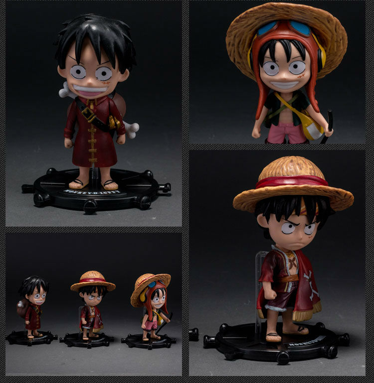 Toys & Hobbies 3 Pcs/set Anime One Piece Monkey D Luffy Pvc Action Figure Toys Free Shipping Pleasant To The Palate