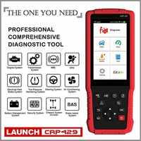 Lançamento CRP429 OBD2 8 Funções de Reset Scanner Leitor de Código de Ferramenta de Verificação Completa Do Sistema de Freio ABS Sangrar, reinício do óleo, EPB, BMS, SAS, DPF