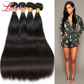 Jet Black Virgin Brazilian Straight Hair 4Pcs Queen Hair Products Straight Brazilian Hair Weave Bundle Cheveux Bresilien Natural