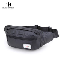 ARCTIC HUNTER Men Male Casual Functional Bag Waist Bag Money Phone Belt Bag Gray Black Fashion