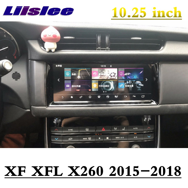 For Juguar XE XF XFL X260 R-Sport 2015-2018 NAVI LiisLee Car Multimedia 10.25' GPS WIFI Audio CarPlay Adapter Radio Navigation 1
