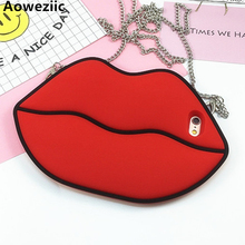 hot deal buy big red lips for iphone7 6s lips phone case 7plus creativity anti-drop tide silicone sets of women
