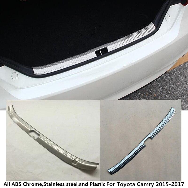 Для Toyota Camry 2015 2016 2017 Тюнинг автомобилей тела внутренняя внутри заднего бампера отделкой Нержавеющаясталь потертости подоконник Магистрал...