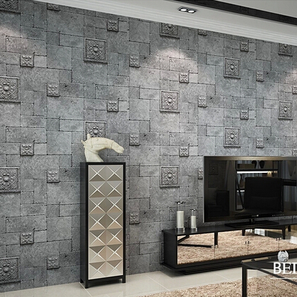 beibehang  3D wallpaper for wall Embossed Brick Wall paper roll home decoration  papel de parede listrado papel pintado wholesale vintage mural 3d brick stone room wallpaper vinyl waterproof embossed wall paper roll papel de parede home decor 10m