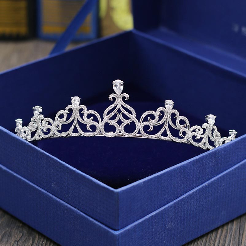 Hair-Accessories Tiara Zircon Mariage Crowns Trees Sparkly Bride Wedding AAA Diademe