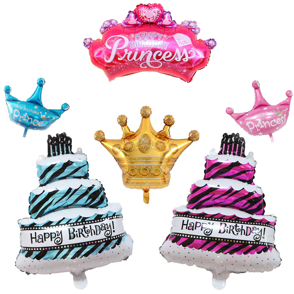 Happy Birthday Party Supplies Decoration Foil Balloons Ice Cream