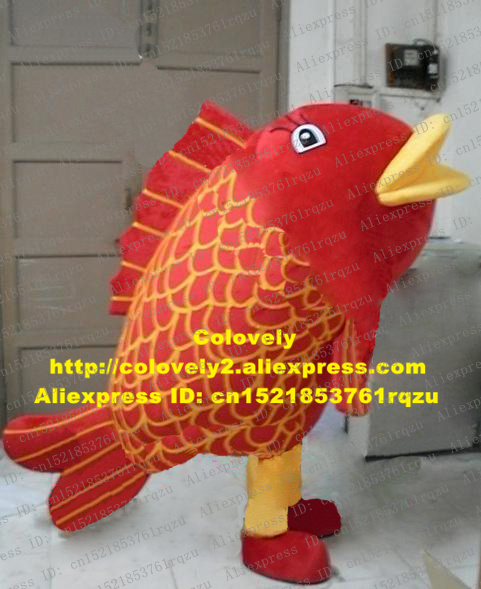 Costumes & Accessories Amiable Fancy Red Common Carp Cyprinoid Fancy Carp Koi Qoi Fish Coi Carp Japanese Mascot Costume Cartoon Character Mascotte Adult Zz297 Activating Blood Circulation And Strengthening Sinews And Bones Mascot