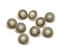 50pcs new style pearl 13mm plating rose gold shirt buttons apparel sewing accessories DIY crafts