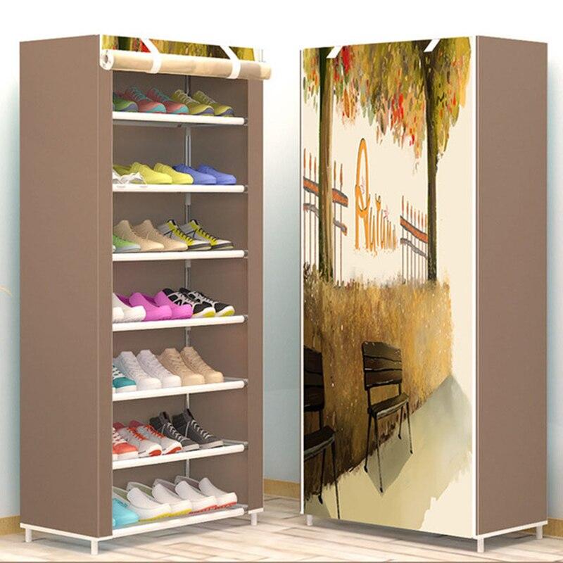 build up Shoe cabinet 8-layer Non-woven fabrics large shoe rack removable shoe for home minimalist furniture Gabinete de zapatos static dust cleaning removing non woven fabrics white 20 pcs