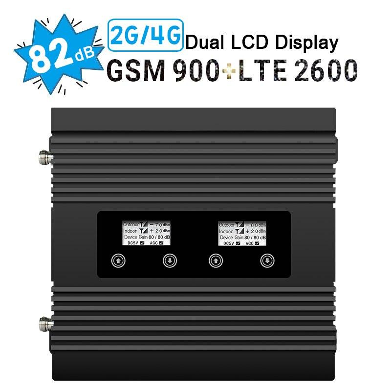 82dB Gain amplificateur de Signal LCD GSM 900 MHz 4G LTE 2600 MHz amplificateur de Signal de téléphone portable B7 répéteur pour MTS, MegaFon, Beeline, Tele2
