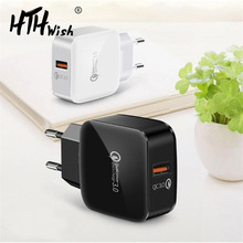 Universal Quick Charge 3.0 For Fast Charger Samsung Mobile Phone Plug Travel S10 S8 Plus J7 S9