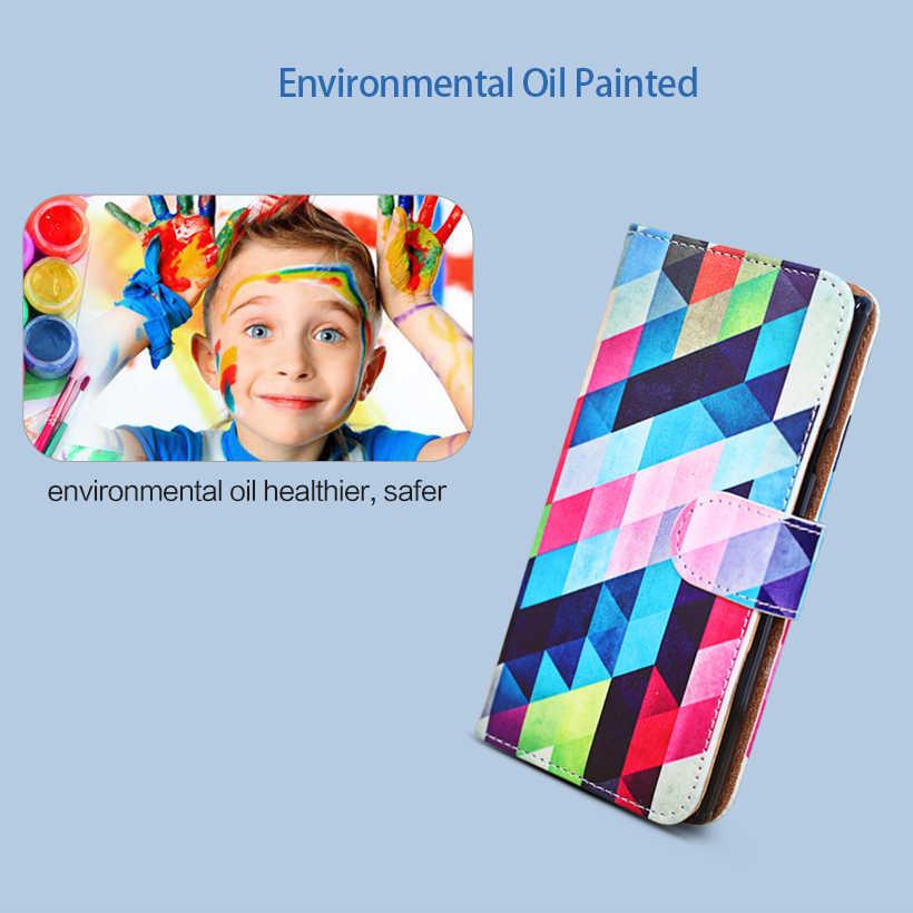 Кожаный чехол-книжка с подставкой для Nokia 5, 6,1, 6, 2018, 7 Plus, чехол с сердечком TA-1000, чехол из ПУ кожи с подставкой и рисунком «сделай сам»