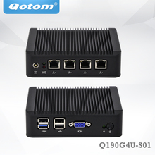 QOTOM Mini PC Q190G4U with 4 Gigabit NIC to build a router firewall Fanless PFSense appliance