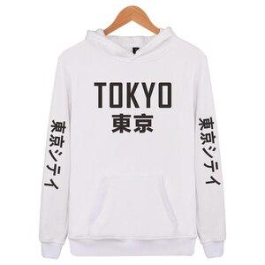 Image 2 - 2019 New Arrival Japan Harajuku Hoodies Tokyo City Printing Pullover Sweatshirt Hip Hop Streetwear 4XL Plus Size Clothing